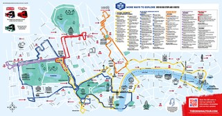 Carte de bus touristique et hop on hop off bus tour de The Original Tour