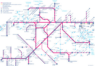 Carte du reseau de train urbain First Great Western de Londres